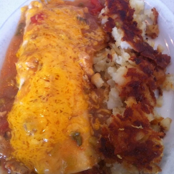 Bacon And Egg Burrito With Hashbrowns @ Westy's Cafe In Westminster, Co