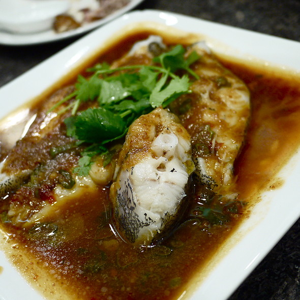 Steamed Japanese Bass in Fried Soy Bean Sauce @ Be Be Fusion Restaurant