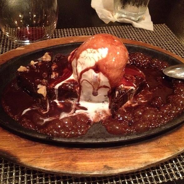 Brownie with Ice Cream @ White Oak Kitchen + Drinks