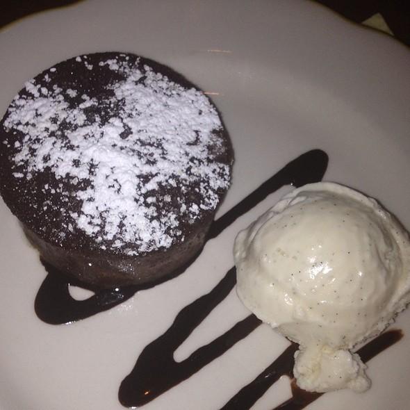 Warm chocolate cake with vanilla ice cream - Nizza - NYC, New York, NY