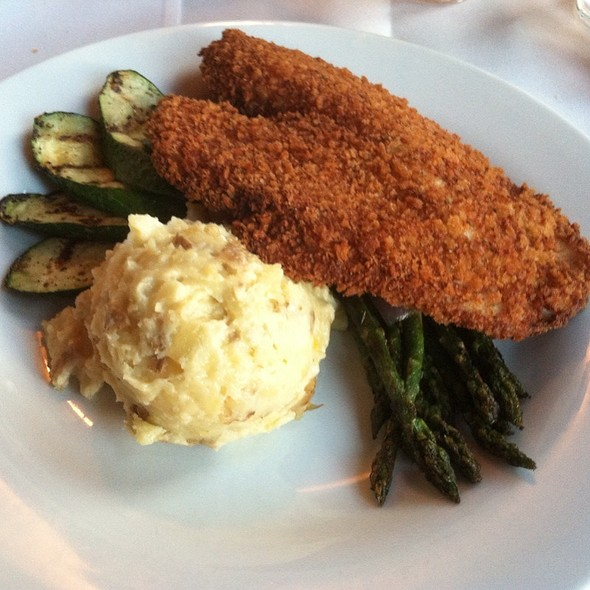Pecan Crusted Tilapia With Mashed Potatoes