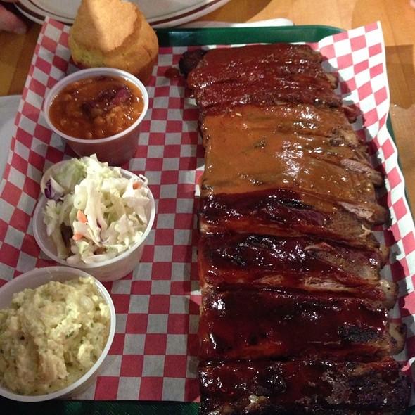 Combo Plate Ribs @ Mo's BBQ House