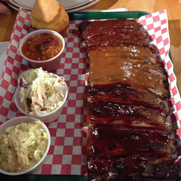 Combo Plate Ribs @ Mo's BBQ House