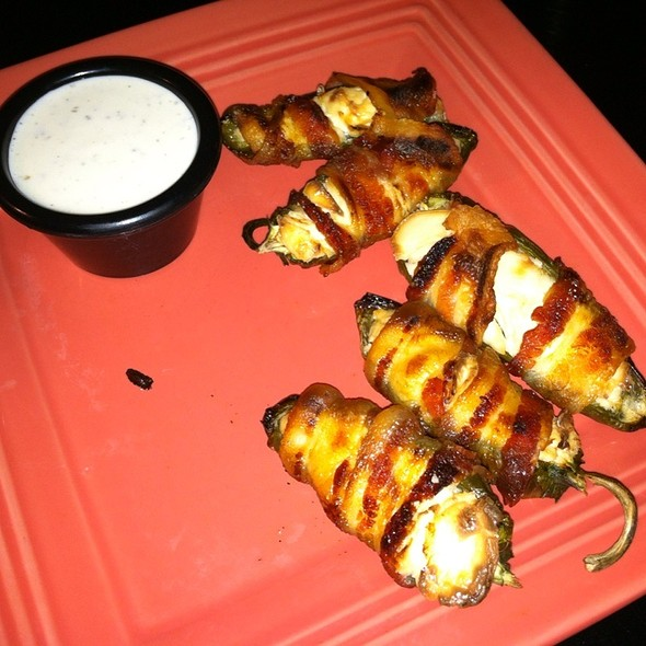 Bacon Wrapped Stuffed Jalapenos @ Brass Lantern Tavern