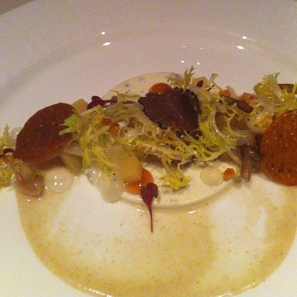 Truffle And Madeira Custard With Artichokes And Pickled Quince @ The Fearrington House Inn