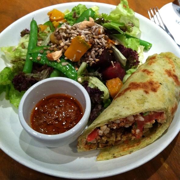 Half Falafel Wrap And Wagas Salad @ WAGAS
