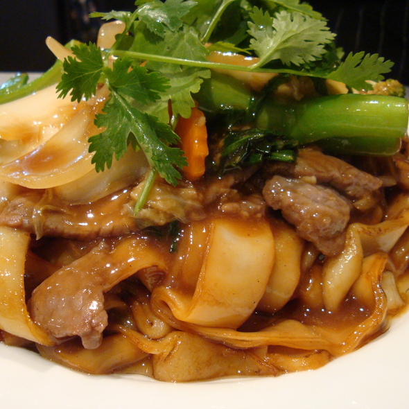Stir Fried Beef and Vegetables with Rice Noodle @ Bau Truong Restaurant