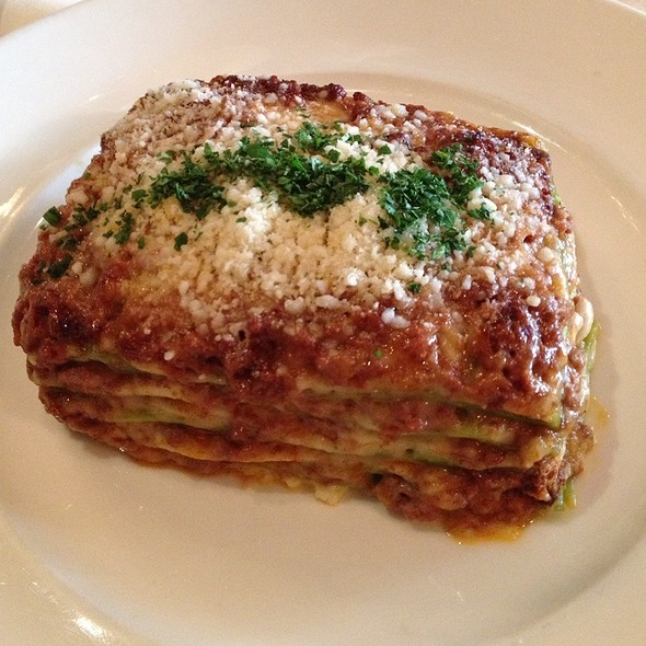 Lasagna Verde With Beef And Veal Ragu - Quattro - South Beach, Miami Beach, FL
