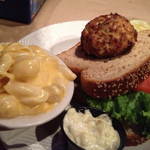 Crab Cake Sandwich @ J & S Crab Ranch