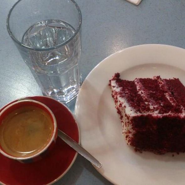 Red Velvet Cake & Double Espresso @ Fallen Angel Bakery
