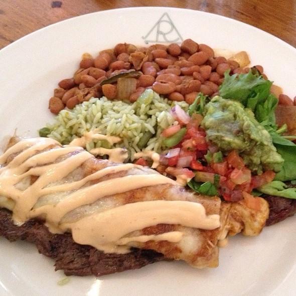 Carne Asada With Cheese Enchiladas