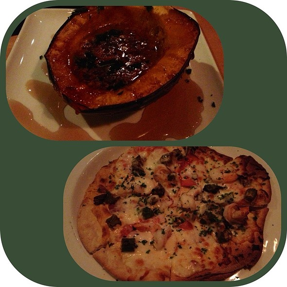 Maple Pecan Squash & Creole Shrimp And Sausage Pizza @ Trostel's Dish
