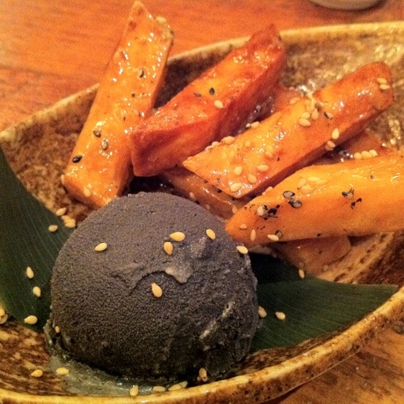 Black Sesame Ice Cream and Sweet Potato Fries @ Guu Izakaya