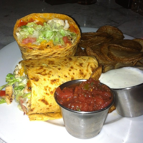 Chicken Fajita Wrap With Homemade Chips - The Old Fourth Street Filling Station, Winston-Salem, NC