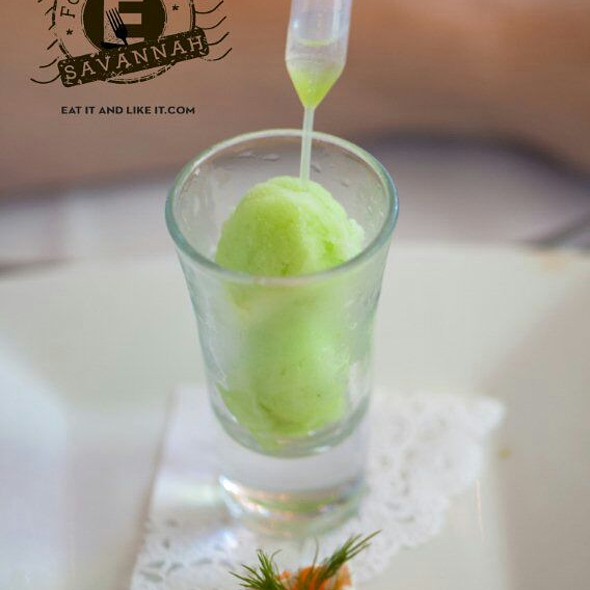 Cucumber Sorbet - The Olde Pink House Restaurant, Savannah, GA
