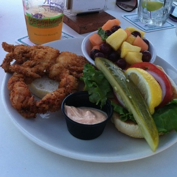 Soft Shell Crab Sandwich @ The BeachHouse Restaurant
