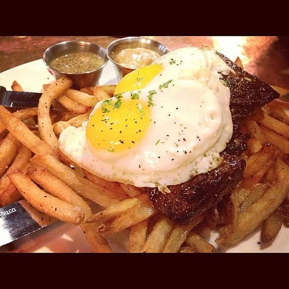 Steak Frites w/ Fried Egg. Yes. @ Brugge Brasserie