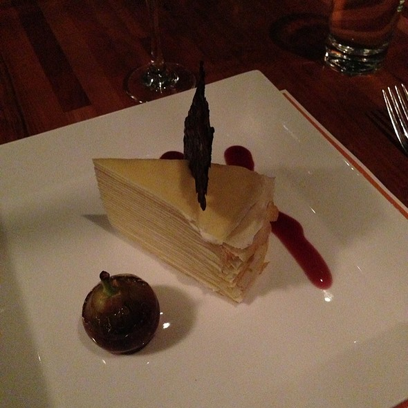 Crepe Cake With Fig And Beaujolais Reduction - Fish, Charleston, SC