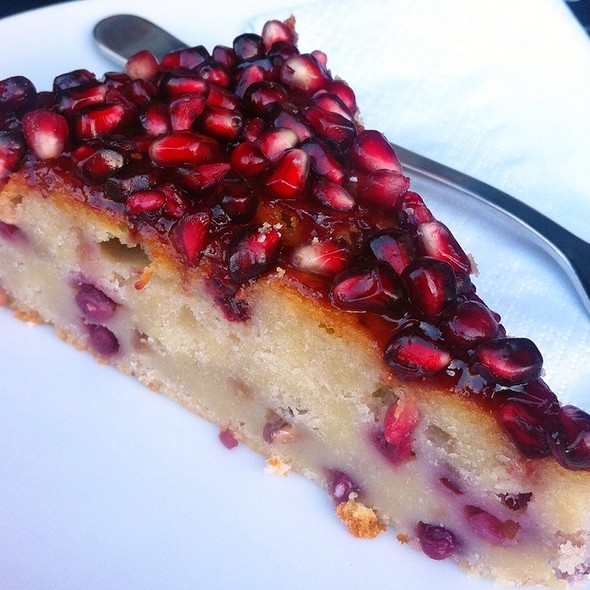 Pomegranate And Rosemary Cake @ Fernandez & Wells
