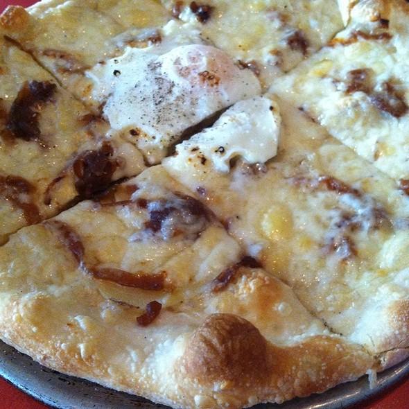 Carmelized Onion, Procuitto, Potato And Fontina Cheese Pizza - ASTI Trattoria, Austin, TX