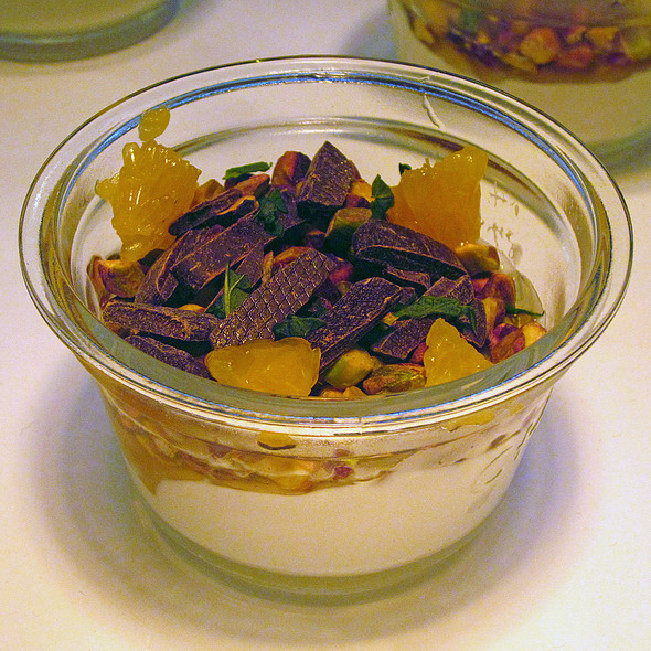 Pistachio   Chocolate Yogurt