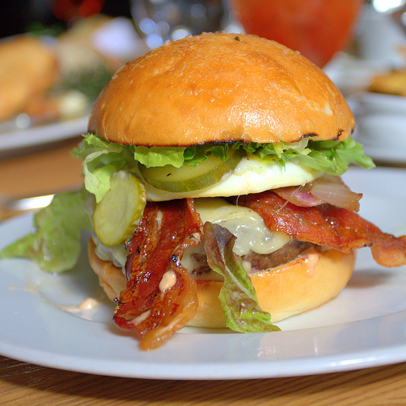 Bacon Cheeseburger with Fried Egg @ Ella Dining Room & Bar