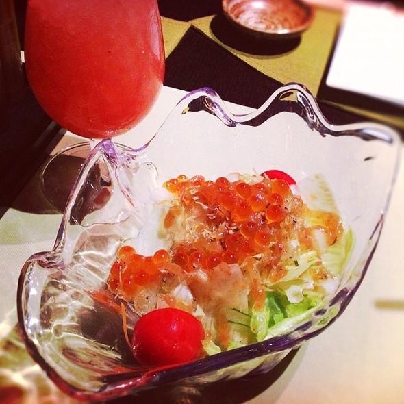 Salmon Egg Salad @ Tomo Japanese Resturant