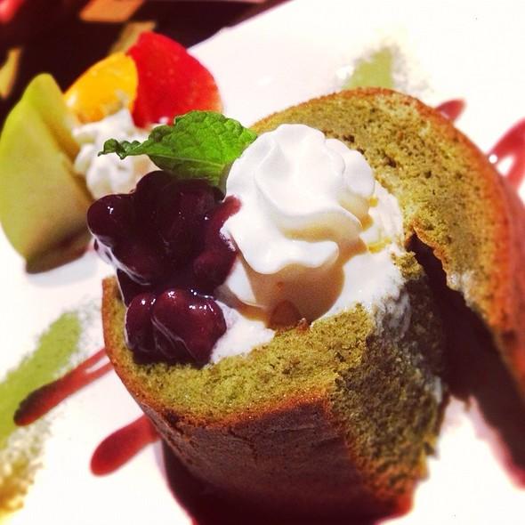 Green Tea Cake With Vanilla Icecream @ Tomo Japanese Resturant