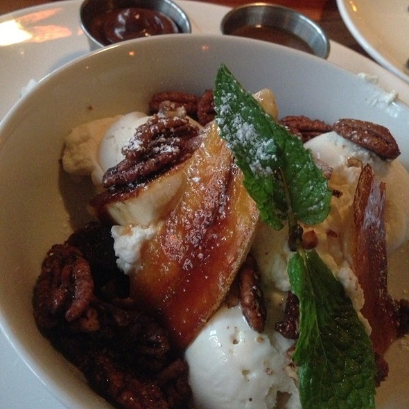Chocolate Brownie With Caramelized Banana And Hot Fudge Sauce.  @ Toulouse Petit
