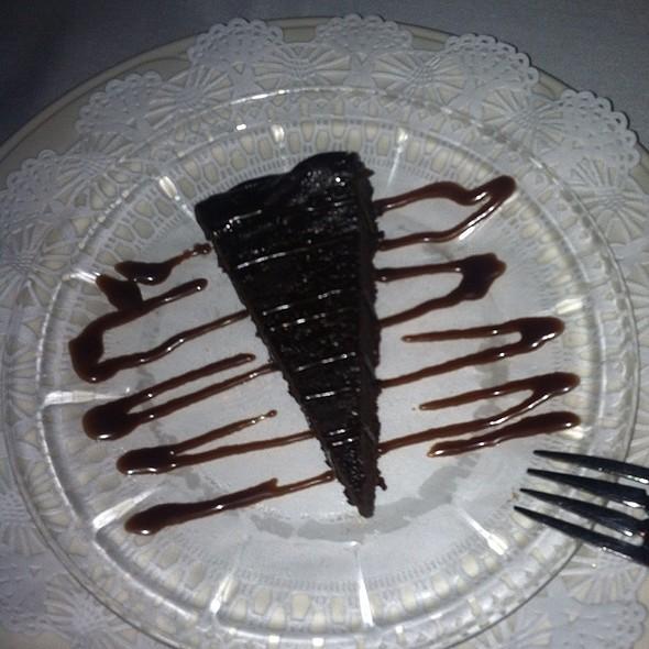 flourless chocolate cake - The English Inn, Eaton Rapids, MI