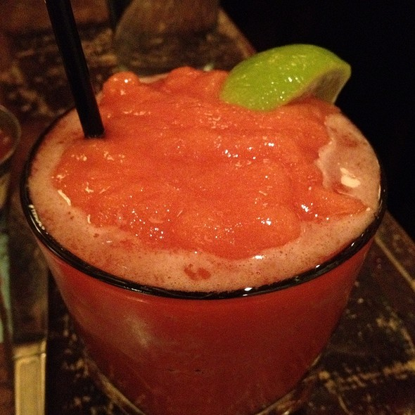 Strawberry Margarita - The Painted Burro, Somerville, MA