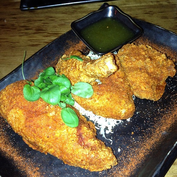 "Fried Chicken ""Blue Ribbon Style"" With Wasabi & Honey Dipping Sauce @ Blue Ribbon Sushi Bar & Grill"