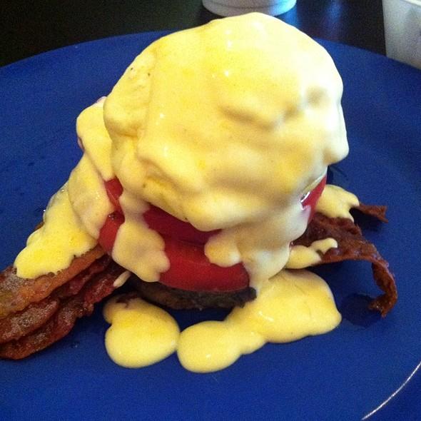 Potato Napoleon - The Pod With Black Beans & Tomatoes @ Pom Pom's Tea House & Sndwchr