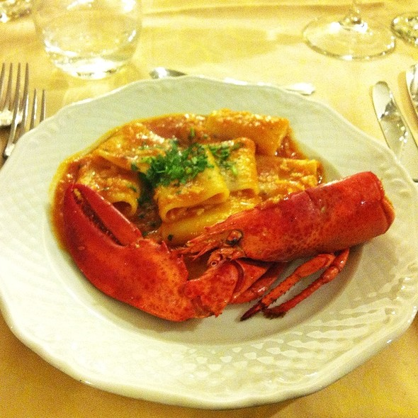 Paccheri all'astice @ Hotel Donna Laura Palace