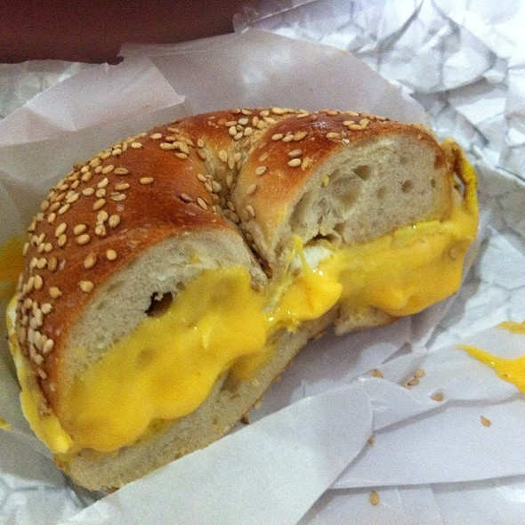 Egg and Cheese On Sesame Bagel @ Murray's Bagels