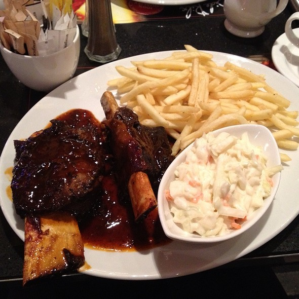 Beef Ribs With Fries And Coleslaw @ Angus Steakhouse