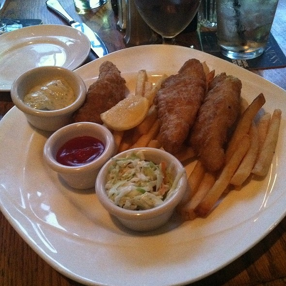 Pollack Fish & Chips - The Irish Inn at Glen Echo, Glen Echo, MD