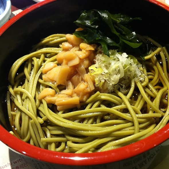 Green Tea Noodles With Scallops @ Itacho Sushi @The Star Vista