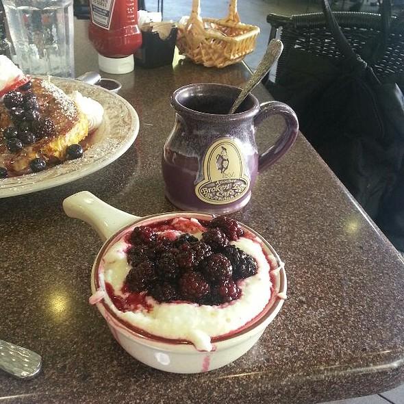 Blackberry Grits @ Another Broken Egg Cafe