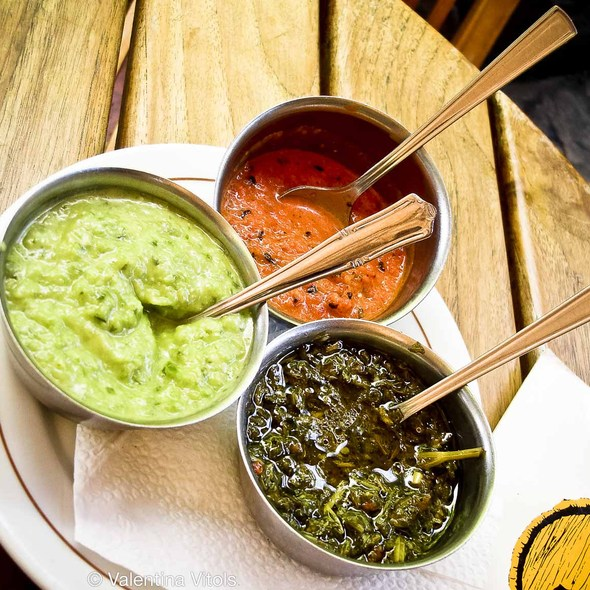 Assorted Sauces - Chimichurri, Guasacaca and Hot @ Hereford Grill