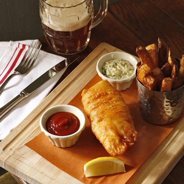 Beer-Battered Fish & Chips @ The Dandelion
