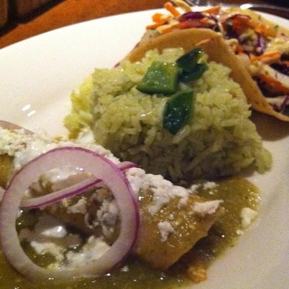 Chicken Enchiladas & Grilled Shrimp Tacos @ Mr Mesero