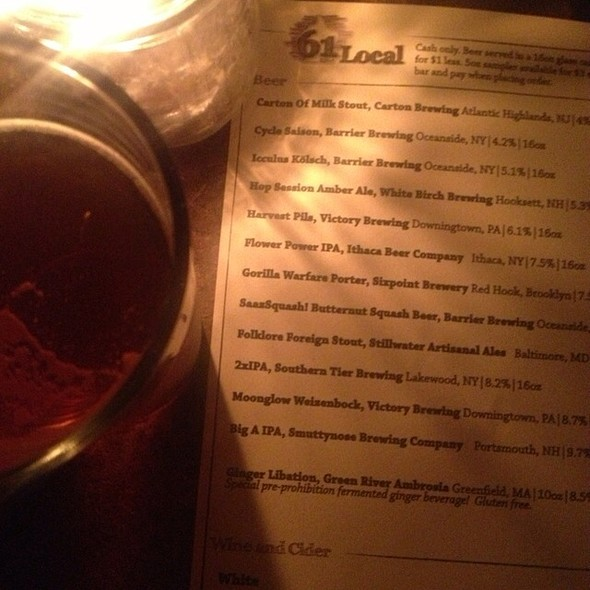 Saazsquash Beer @ 61 Local