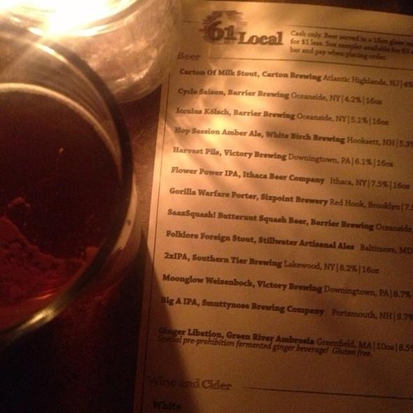 Saazsquash Beer @ 61 Local