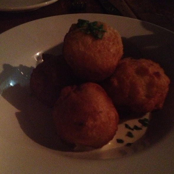 Bacon Beignets With Maple Chive Creme Fraiche - Smithfields, Ashland, OR