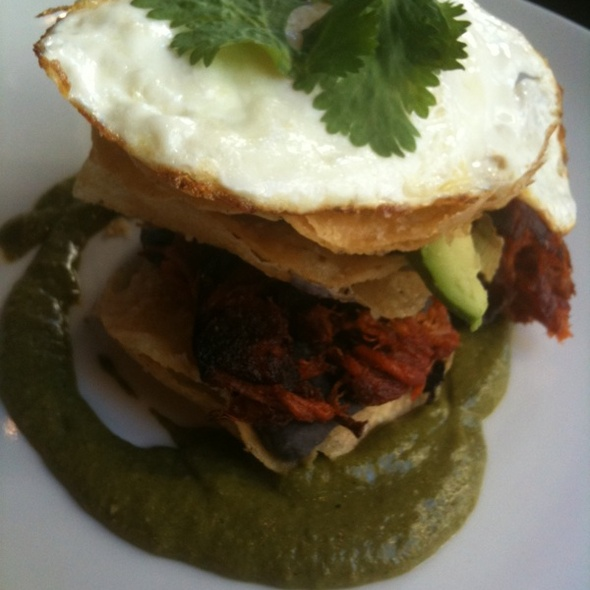 Braised Pork And Egg Tostada @ Elate