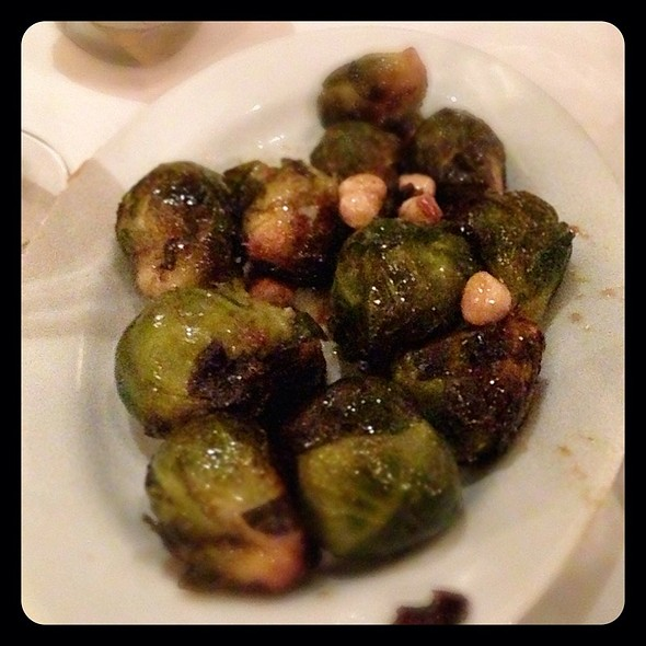 Grilled Brussels Sprouts W/ Cashews @ Hyde Park Steakhouse
