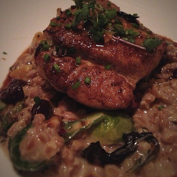 "Pan Seared Grouper With Truffed Farro ""Risotto"", Brussel Sprouts, Preserved Sour Cherries, Roast Acorn Squash - La Provence - New Orleans, Lacombe, LA"