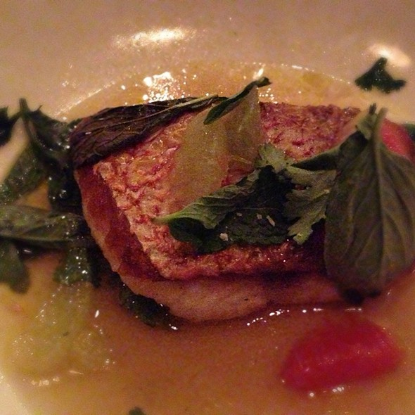 American Red Snapper, Lime Broth, Herbs @ The Optimist
