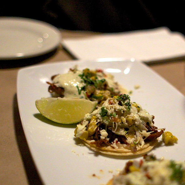 Chipotle BBQ Pork Soft Tacos @ Guy Fieri's American Kitchen And Bar